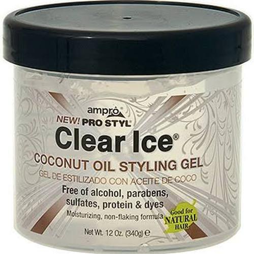 Ampro Pro Styl Clear Ice Coconut Oil Styling Gel 12oz