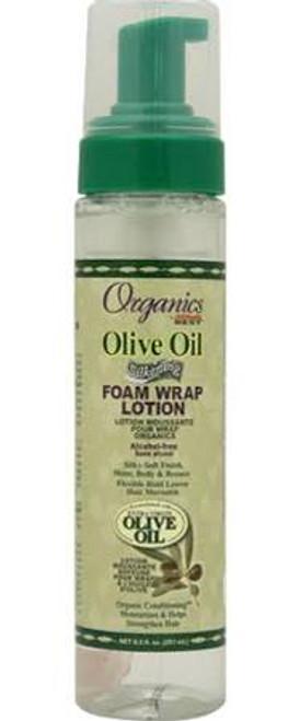 Africa's Best Organics Olive Oil Silkening Foam Wrap Lotion 8.5oz