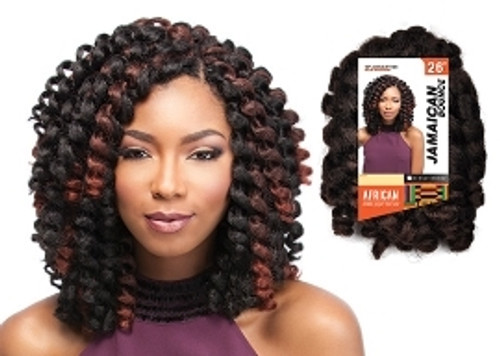 SENSATIONNEL SYNTHETIC HAIR CROCHET BRAIDS AFRICAN COLLECTION JAMAICAN BOUNCE 26""