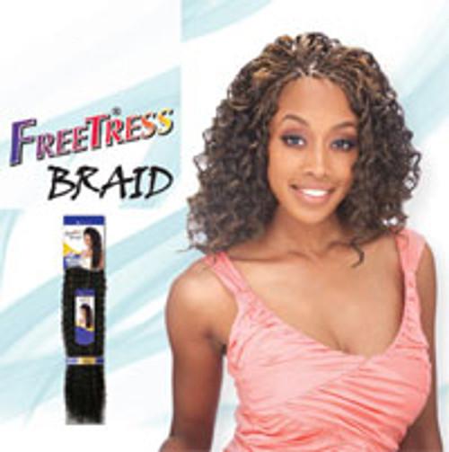 "FREETRESS SYNTHETIC HAIR CROCHET BRAIDS PRESTO CURL 26"""
