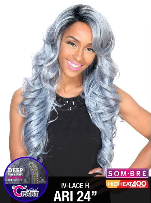 """Zury Sister Wig Invisible Top Natural C Part Remy Fiber Lace Wig- IV LACE H ARI 24"""""""