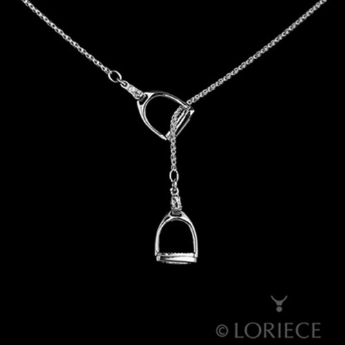 Equestrian Set English Stirrups Lariat Necklace