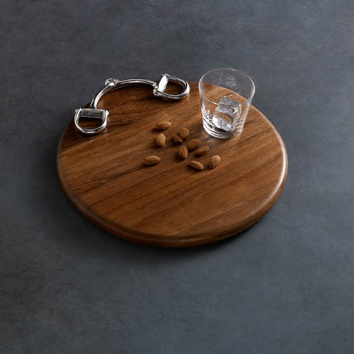 "Snaffle Bit Cutting Board  12"" Round"