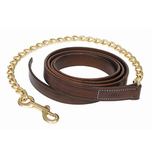 "Walsh Leather Lead w/ 30"" Chain"