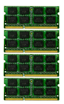 32GB(4X8GB) DDR3 1333MHz PC3-10600 1024X64 204Pin SODIMM Memory kit for iMac 2011