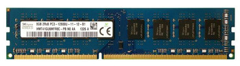 Hynix 8GB DDR3 1600MHz PC3-12800 240-Pin non-ECC Unbuffered CL11 DIMM Dual Rank Desktop Memory HMT41GU6MFR8C-PB