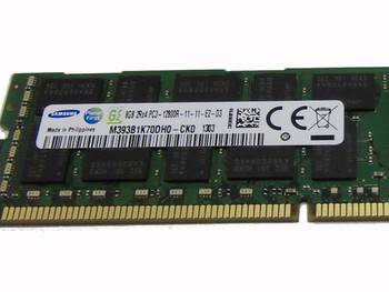 Samsung 8GB DDR3 1600MHz PC3-12800 240-Pin ECC Registered DIMM Dual Rank Desktop Memory M393B1K70DH0-CK0