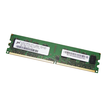 Micron 2GB DDR2 667MHz PC2-5300 240-Pin non-ECC Unbuffered DIMM Dual Rank Desktop Memory MT16HTF25664AY-667E1