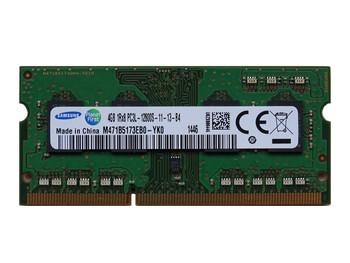 Samsung 4GB DDR3 1600MHz PC3-12800 204-Pin non-ECC Unbuffered SoDIMM Dual Rank Notebook Memory M471B5173EB0-YK0