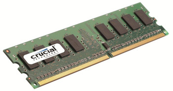 Crucial 2GB DDR3 1066MHz PC3-8500 240-Pin non-ECC Unbuffered Dual Rank DIMM Desktop Memory CT25664BA1067