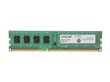 Crucial 2GB DDR3 1333MHz PC3-10600 240-Pin non-ECC Unbuffered Dual Rank DIMM Desktop Memory CT25664BA1339