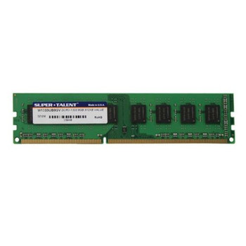Super Talent 8GB DDR3 1333MHz PC3-10600 240-Pin DIMM non-ECC Unregistered Dual Rank Desktop Memory W1333UB8GV