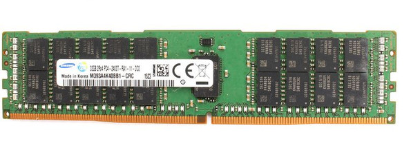 Samsung 32GB DDR4 2400MHz PC4-19200 288-Pin ECC Registered 1.2V Dual Rank DIMM Server Memory M393A4K40BB1-CRC