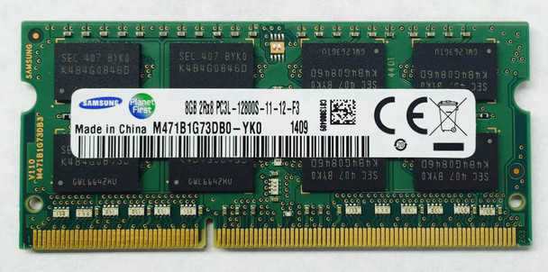 Samsung 8GB DDR3 1600MHz Sodimm Memory M471B1G73DB0-YK0