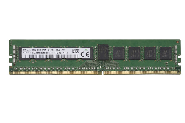 Hynix 8GB DDR4 2133MHz PC4-17000 288-Pin ECC Registered CL15 DIMM 1.2V Dual Rank OEM Server Memory HMA41GR7MFR8N-TF