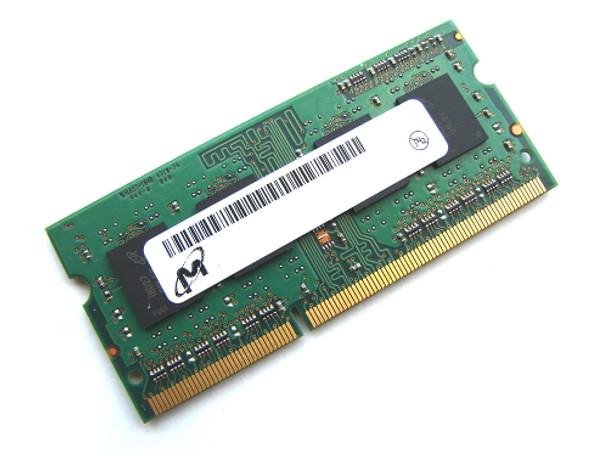 Micron 4GB DDR3 1333MHz PC3-10600 204-Pin non-ECC Unbuffered SoDIMM Single Rank Notebook Memory MT8KTF51264HZ-1G4E1