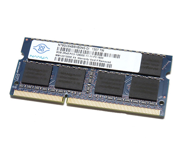 Nanya 8GB DDR3 1600MHz PC3-12800 non-ECC Unbuffered CL11 SoDIMM Dual Rank Notebook Memory NT8GC64B8HB0NS-DI
