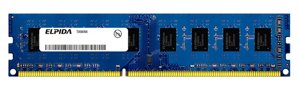 Elpida 2GB DDR3 1066MHz PC3-8500 non-ECC Unbuffered 240-Pin DIMM Dual Rank Desktop Memory EBJ21UE8BBF0-AE
