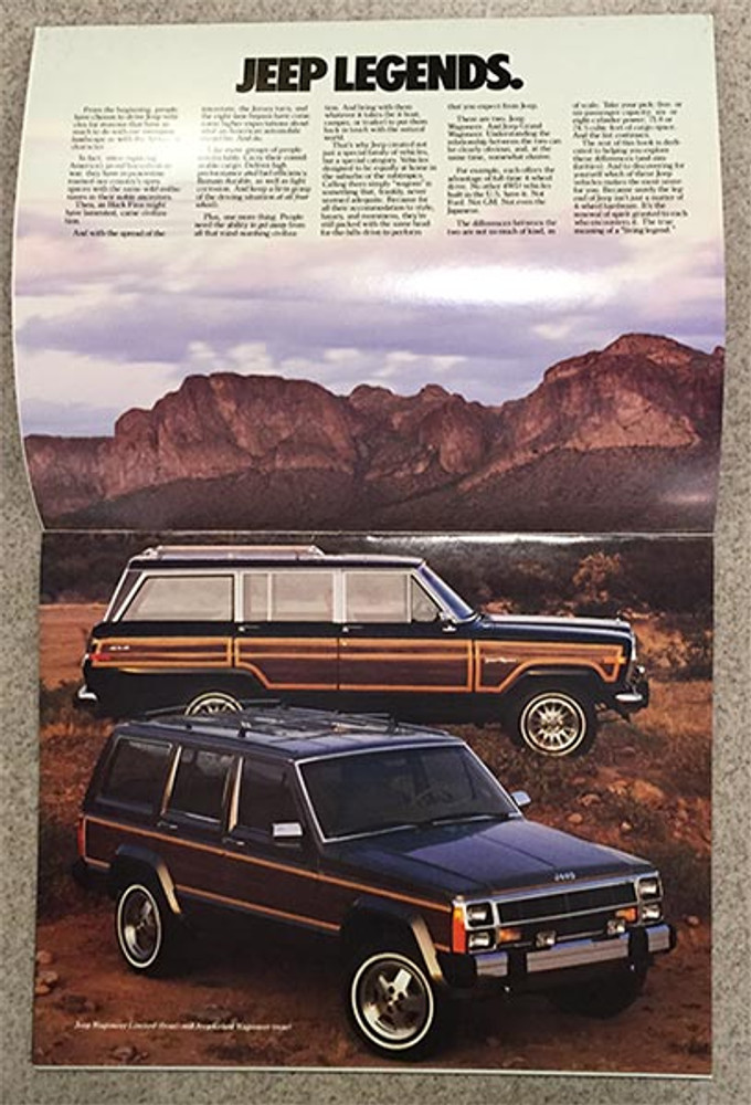 1987 Jeep Wagoneers 18-Page Brochure