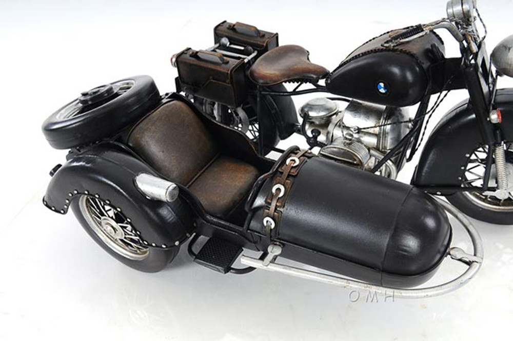 Black Vintage Motorcycle