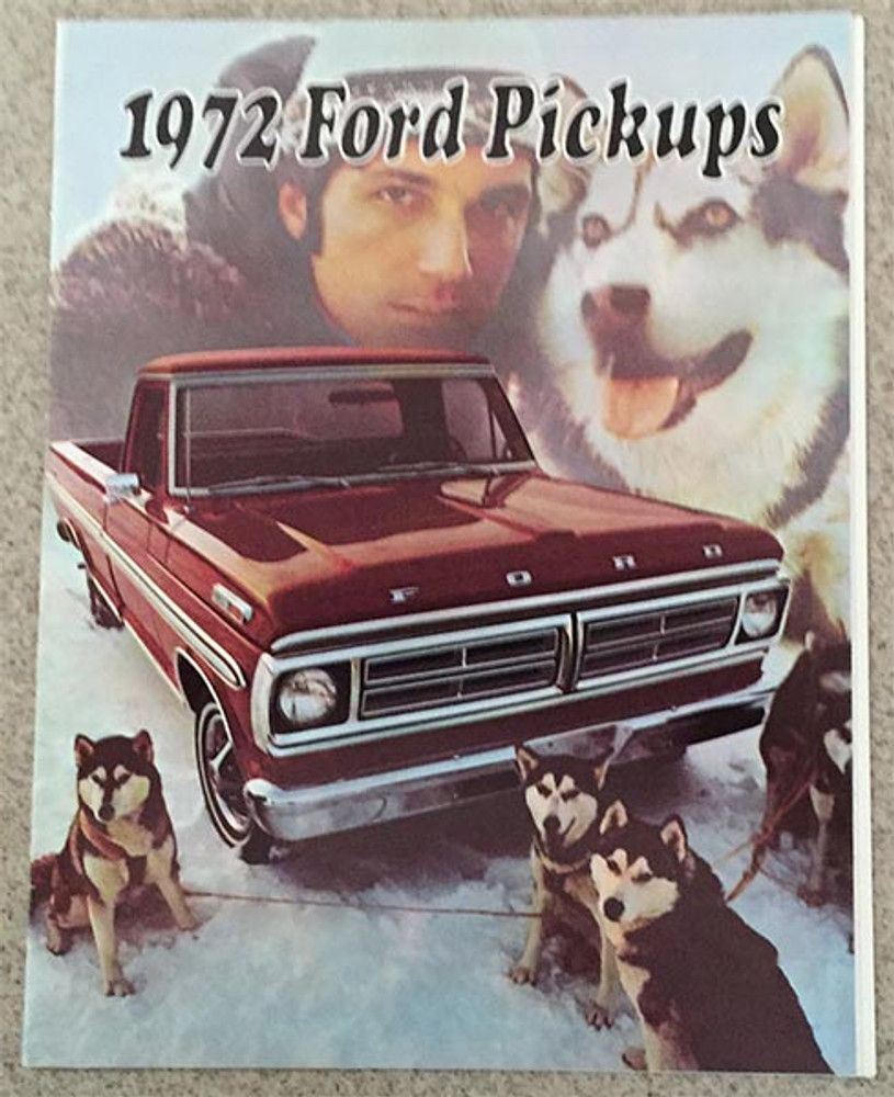 1972 Ford Pickups Original Dealer Brochure