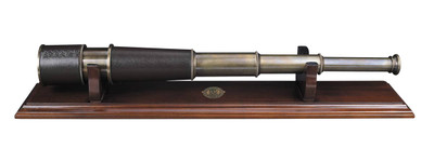 Authentic Models Bronze Spyglass and Stand
