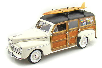 1948 Ford Woody with Surfboard Cream