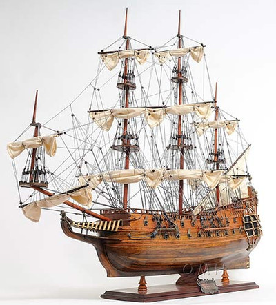Royal Navy HMS Fairfax Ship Model