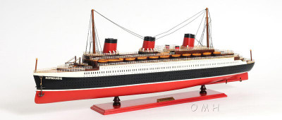 T.S.S. Normandie Large Version Ocean Liner Painted