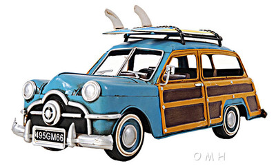 1949 Ford Woody Wagon w/Two Surfboards