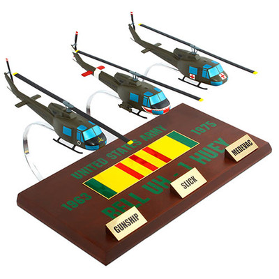 Vietnam Huey Helicopter Model Collection Display