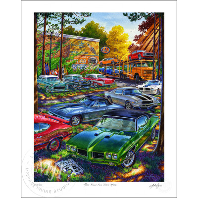 Make Room For Three More Automotive Art