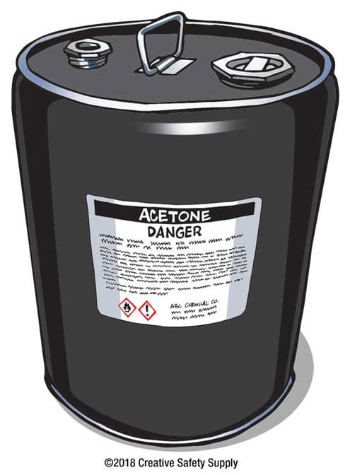 GHS Container - Acetone