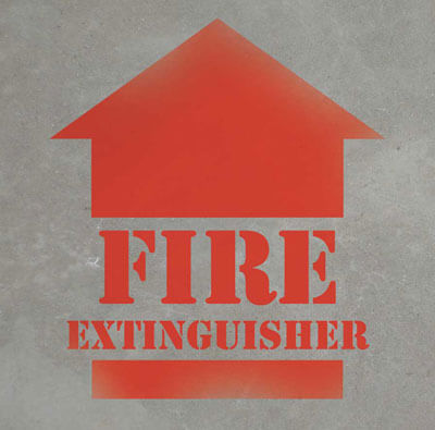 Fire Extinguisher Stencil