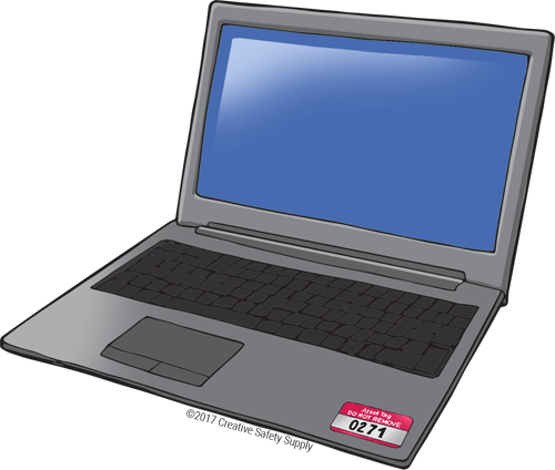 Laptop with Asset Tag