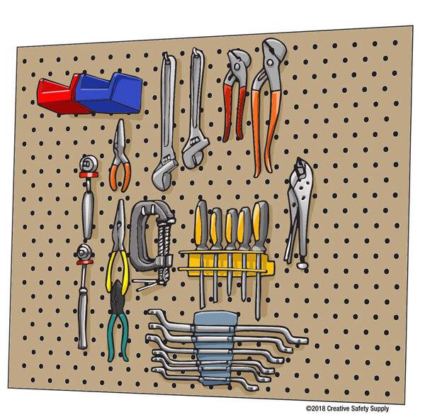 Tool Organization Pegboard