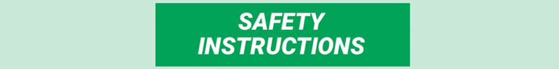 ANSI Safety Instructions Header