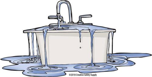 Overflowing Sink