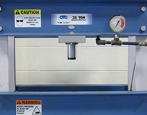 Safety Labels on Press