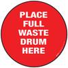 Full Waste Drum Floor Sign