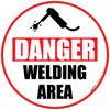 Danger Welding Area Floor Sign