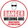 Danger Welding Arc Floor Sign