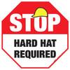Stop - Hard Hat Required - Floor Sign