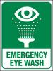 Emergency Eye Wash Station Large Wall Sign