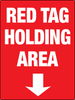 Red Tag Area with Down Arrow