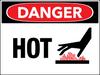 Danger Hot Wall Sign