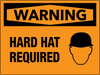 Warning Hard Hat Required Wall Sign