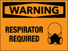 Warning Respirator Required Wall Sign