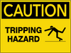 Caution Tripping Hazard Wall Sign