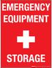 Emergency Equipment Storage - Wall Sign